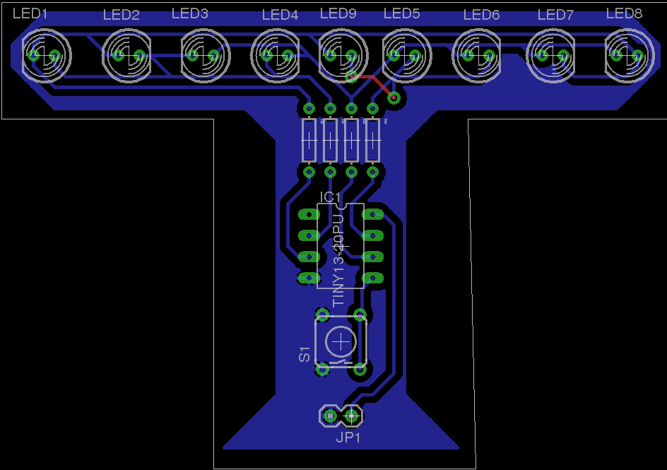 Menorah PCB Layout