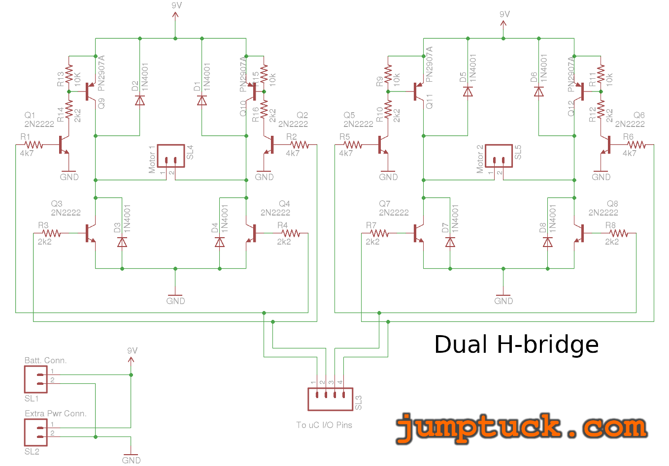 Robot Body Made Almost Entirely From Parts Sourced Locally Jumptuck H Bridge Circuit Diagram My